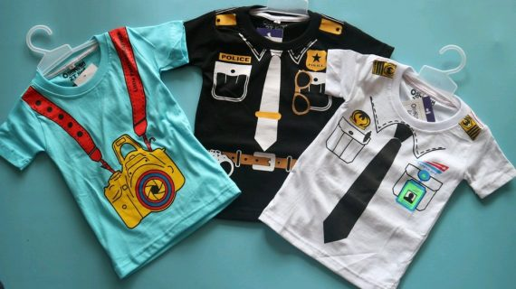 Desain desain Kaos Anak (Profesi) yang lucu